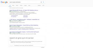Search Engine Optimization Results